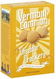 crackers cheddar Vermont Common Nutrition info