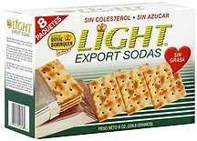 crackers export sodas Royal Borinquen Nutrition info