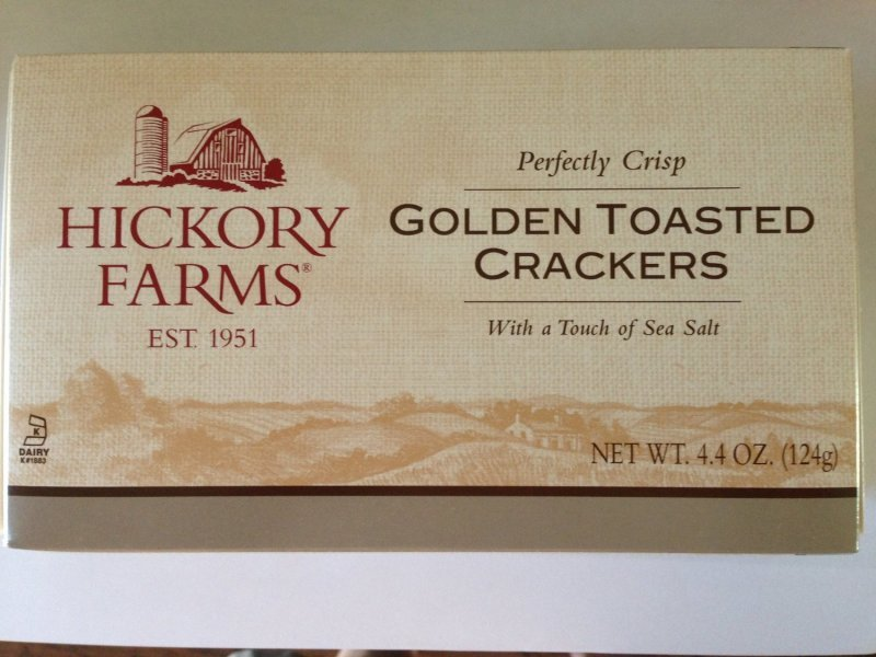 crackers golden toasted Hickory Farms Nutrition info