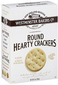 crackers hearty round Westminster Bakers Co. Nutrition info