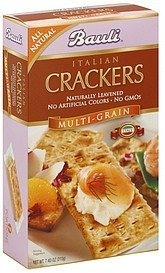 crackers italian, multi-grain Bauli Nutrition info