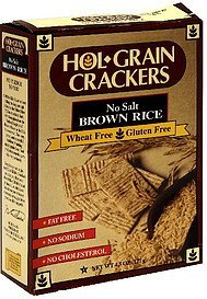 crackers no salt brown rice Hol-Grain Nutrition info