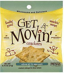 crackers olive oil & sea salt Partners Nutrition info