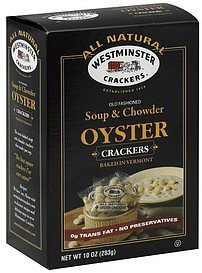 crackers oyster, soup & chowder Westminster Crackers Nutrition info