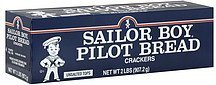 crackers pilot bread, unsalted tops Sailor Boy Nutrition info