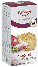 crackers rosemary & onion Wellaby Nutrition info