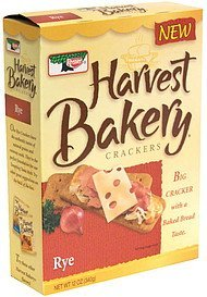crackers rye Harvest Bakery Nutrition info