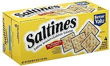 crackers saltine Better valu Nutrition info