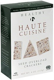 crackers seed overload Haute Cuisine Nutrition info
