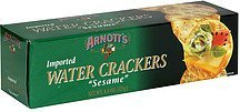 crackers sesame water Arnotts Nutrition info