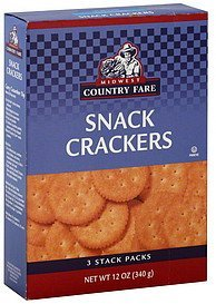 crackers snack Midwest Country Fare Nutrition info
