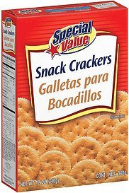crackers snack Special Value Nutrition info