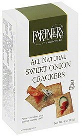 crackers sweet onion Partners Nutrition info