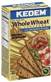 crackers whole wheat, with sesame seeds Kedem Nutrition info