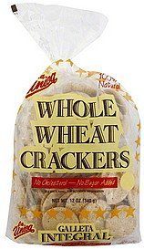crackers whole wheat La Unica Nutrition info