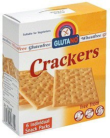 crackers Glutano Nutrition info