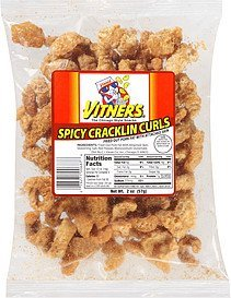 cracklin curls spicy Vitners Nutrition info