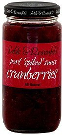 cranberries port spiked sauce Sable & Rosenfeld Nutrition info
