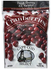 cranberries premium Cape Cod Select Nutrition info