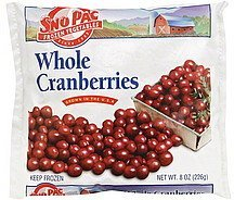 cranberries whole Sno Pac Nutrition info