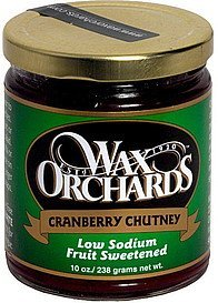 cranberry chutney Wax Orchards Nutrition info