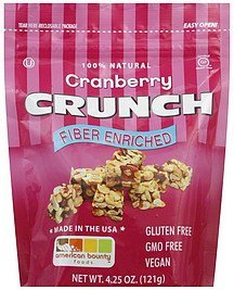 cranberry crunch American Bounty Foods Nutrition info
