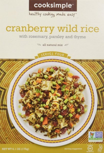 cranberry wild rice Cooksimple Nutrition info