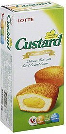 cream cakes custard Lotte Nutrition info