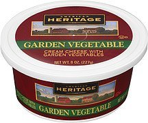 cream cheese garden vegetable American Heritage Nutrition info