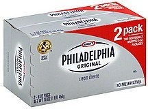 cream cheese original Philadelphia Nutrition info
