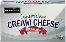 cream cheese pasteurized American Heritage Nutrition info