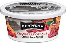 cream cheese spread cranberry orange American Heritage Nutrition info