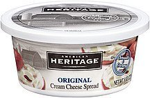 cream cheese spread original American Heritage Nutrition info