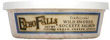 cream cheese spread wild smoked sockeye salmon, traditional flavor Echo Falls Nutrition info