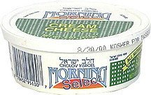 cream cheese Morning Select Nutrition info