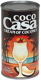 cream of coconut Coco Casa Nutrition info
