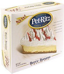 cream pie berry banana Pet-Ritz Nutrition info