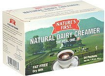creamer natural dairy Nature's First Nutrition info