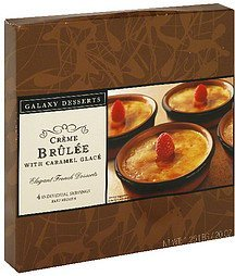 creme brulee with caramel glace Galaxy Desserts Nutrition info