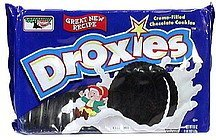 creme filled chocolate cookies Droxies Nutrition info