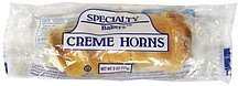 creme horns Specialty Bakers Nutrition info