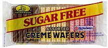 creme wafers assorted sugar free Golden Batch Nutrition info