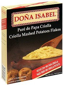 criolla mashed potatoes flakes Dona Isabel Nutrition info