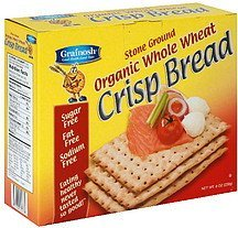 crisp bread organic whole wheat Grainosh Nutrition info