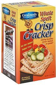 crisp cracker whole spelt Grainosh Nutrition info