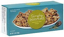 crisps rosemary date Simply Balanced Nutrition info