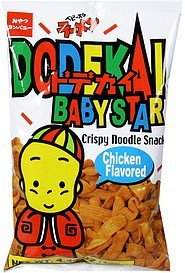 crispy noodle snack chicken flavored Baby Star Nutrition info