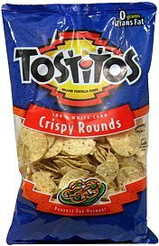 crispy rounds 100% white corn Tostitos Nutrition info