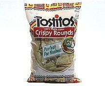 crispy rounds tortilla chips white corn Tostitos Nutrition info
