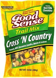 cross 'n country trail mix Good Sense Nutrition info